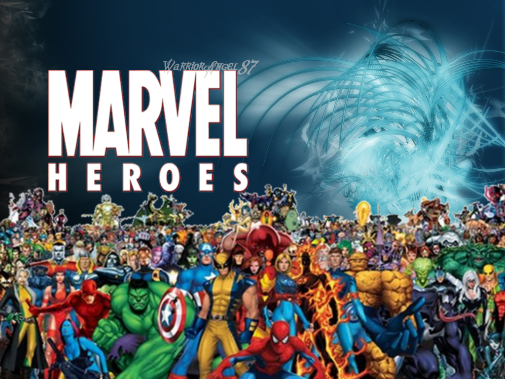 Marvel Heros Superhero Fan 1024x768