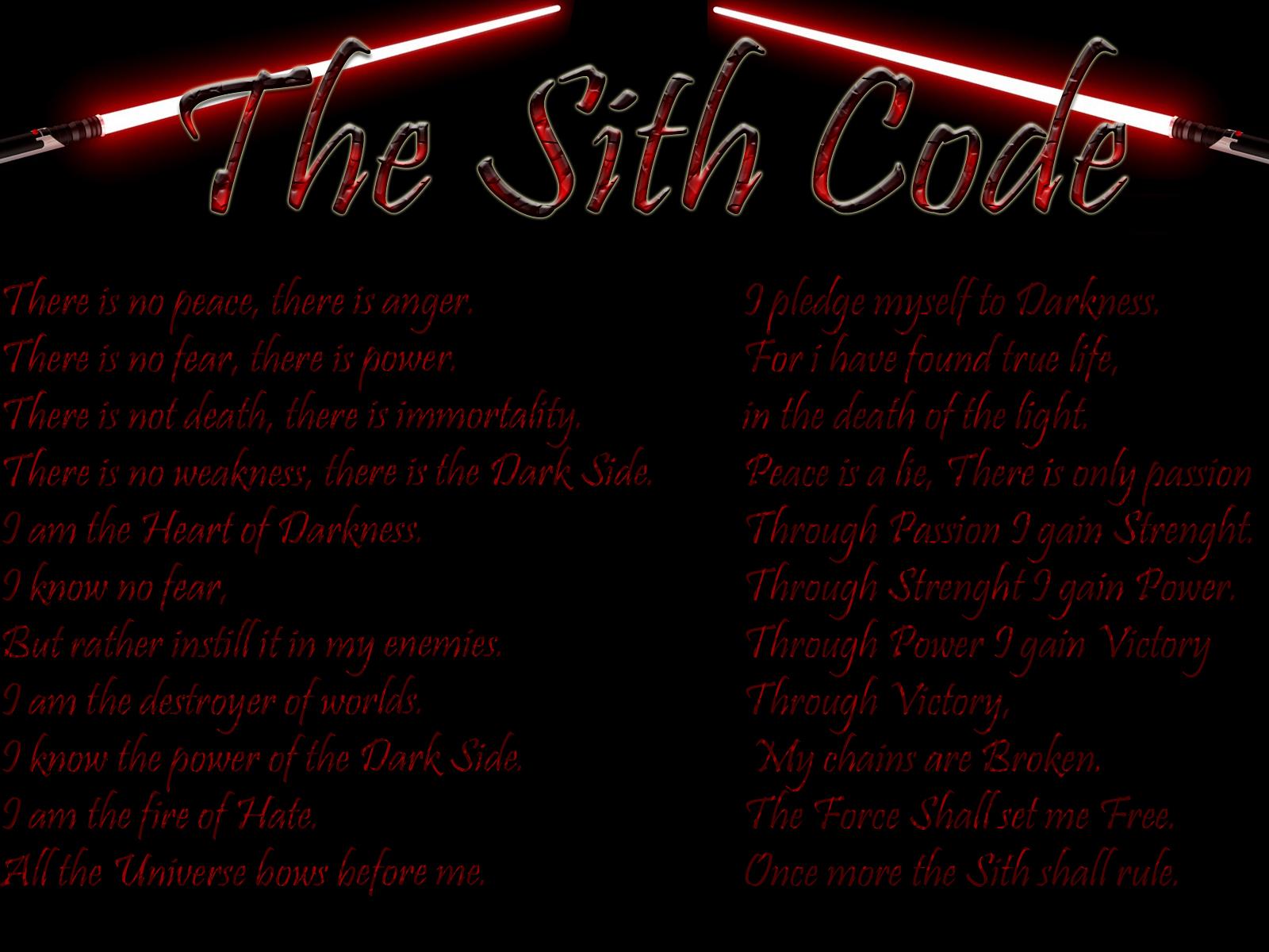 The Code Sith Art Print 1600x1200