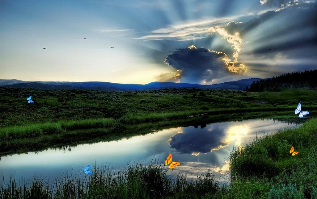 Amazing Peaceful Sunset Backgroun Pictures Peaceful Sunset 1026x645