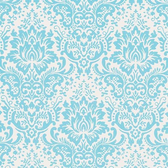 Fabric Wallpaper Turquoise Wallpaper 550x550