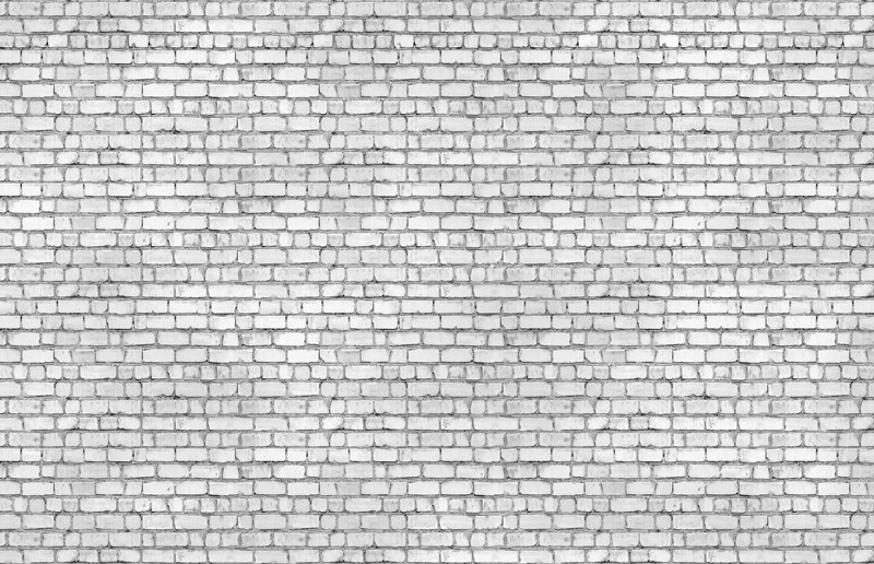 Washed Brick white rustic faux home wallpaper M8967 800x516
