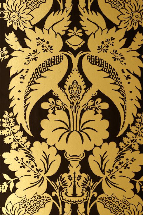 Black gold wallpaper wallpapersafari for Black gold wallpaper designs