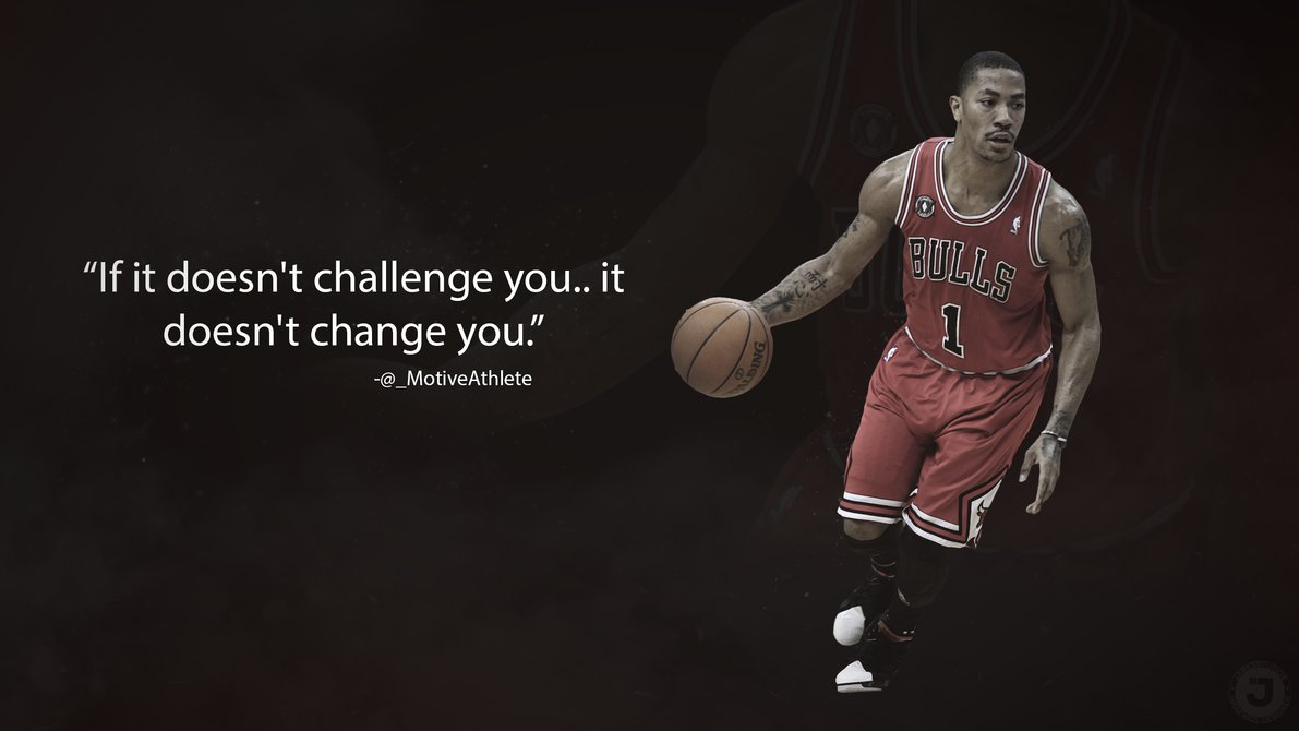 Derrick Rose Motivational wallpaper by JamesSStudios 1191x670