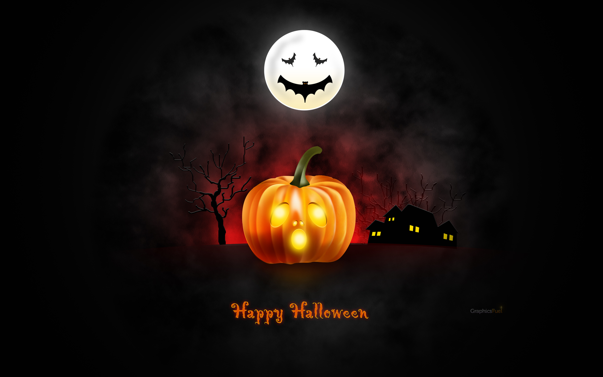 Halloween wallpaper for desktop iPad amp iPhone PSD 1920x1200