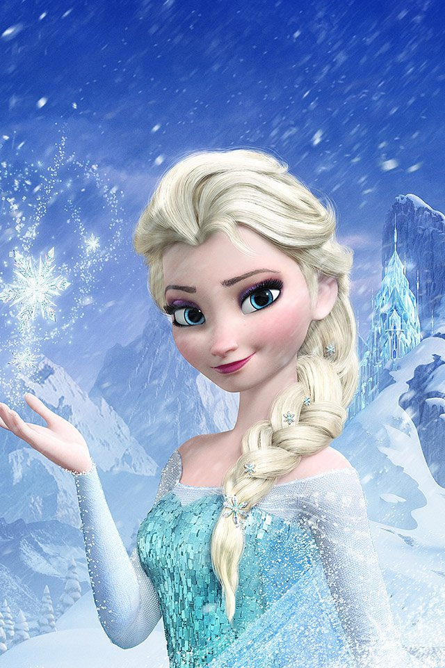 elsa frozen queen ios7 ios8 ios9 iphone4 iphone5 iphone6 640x960