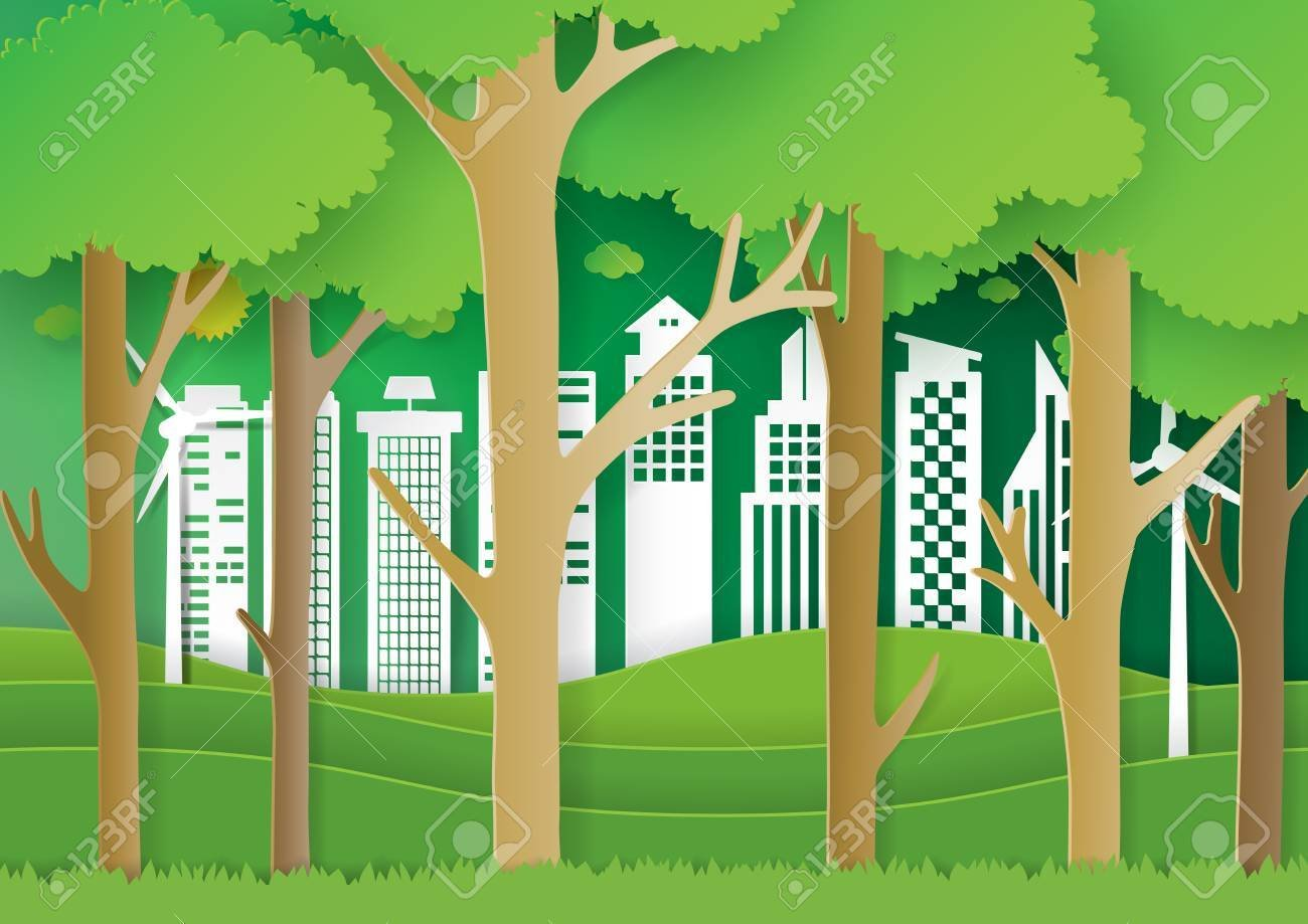 Nature Landscape Forest And Green Eco City BackgroundEco 1300x919