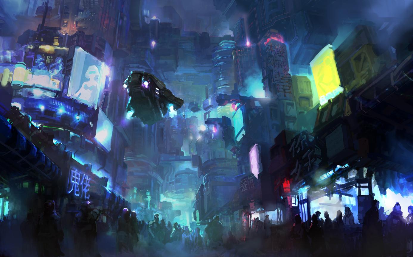Cyberpunk City Wallpaper Cyberpunk city by onestepart 1386x863