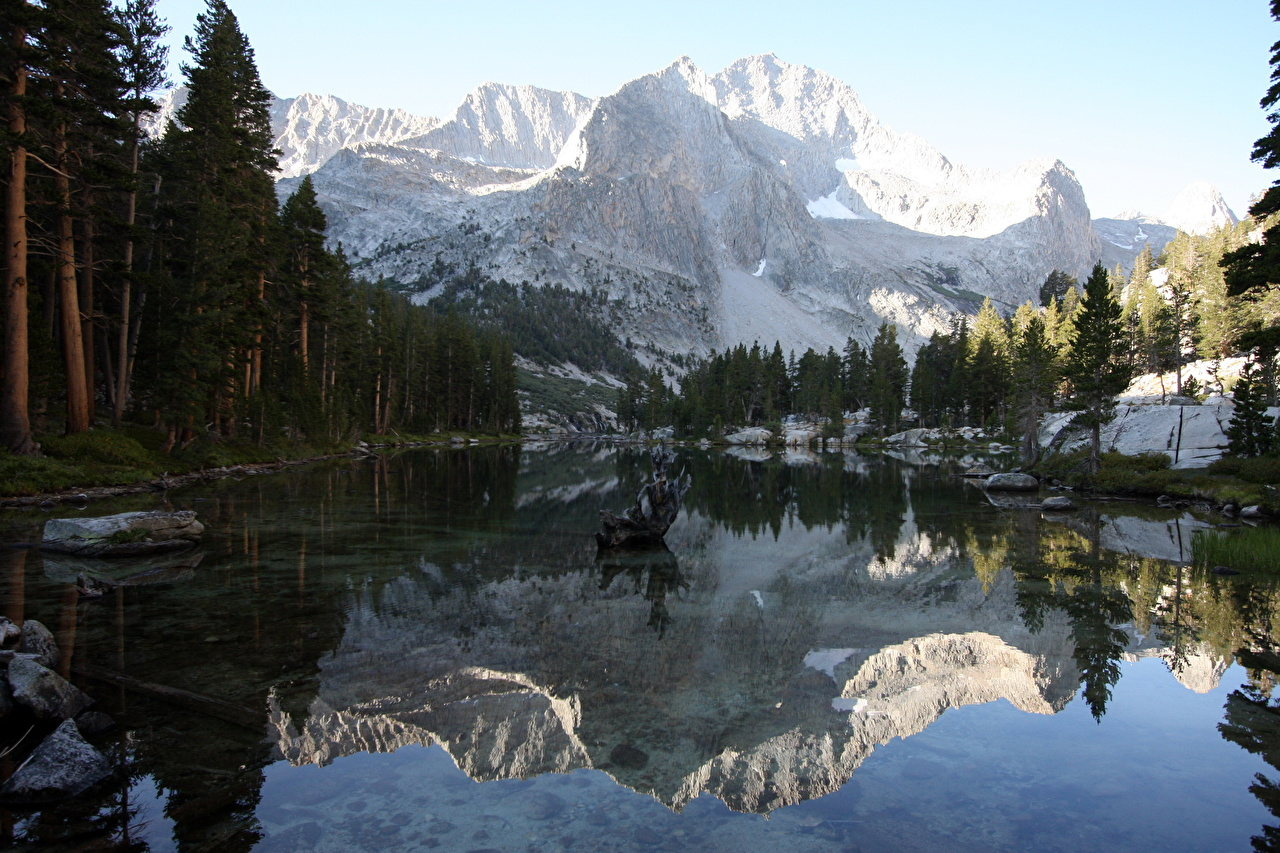 Wallpaper Lake Reflection Sequoia National Park Kings Canyon 1280x853