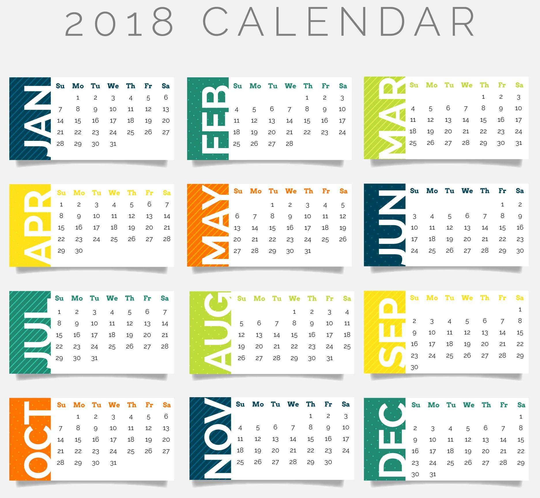 2018 Calendar Wallpapers HD CalendarBuzz 1873x1729