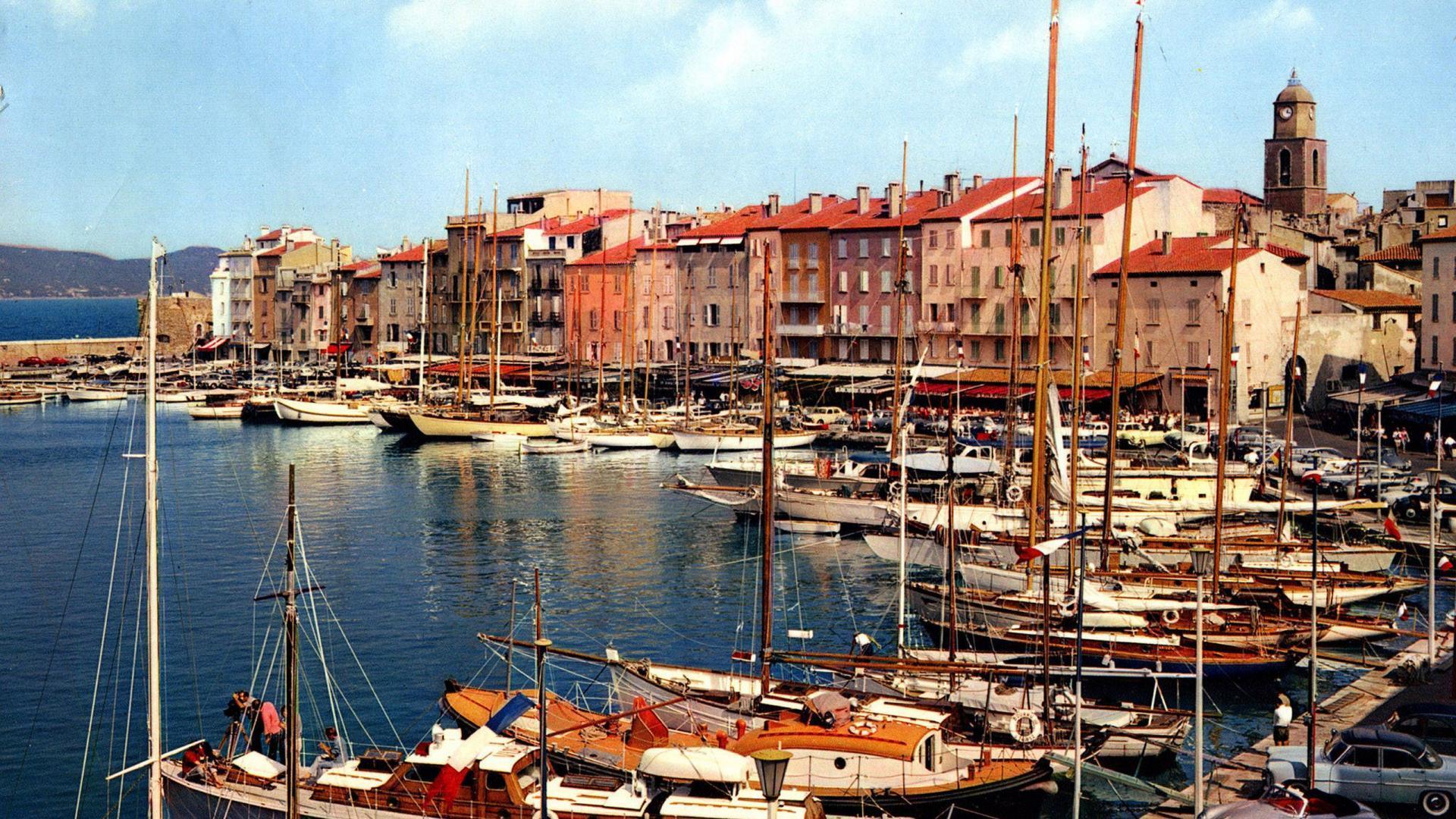 Harbor Marina In St Tropez France HD desktop wallpaper 1920x1080