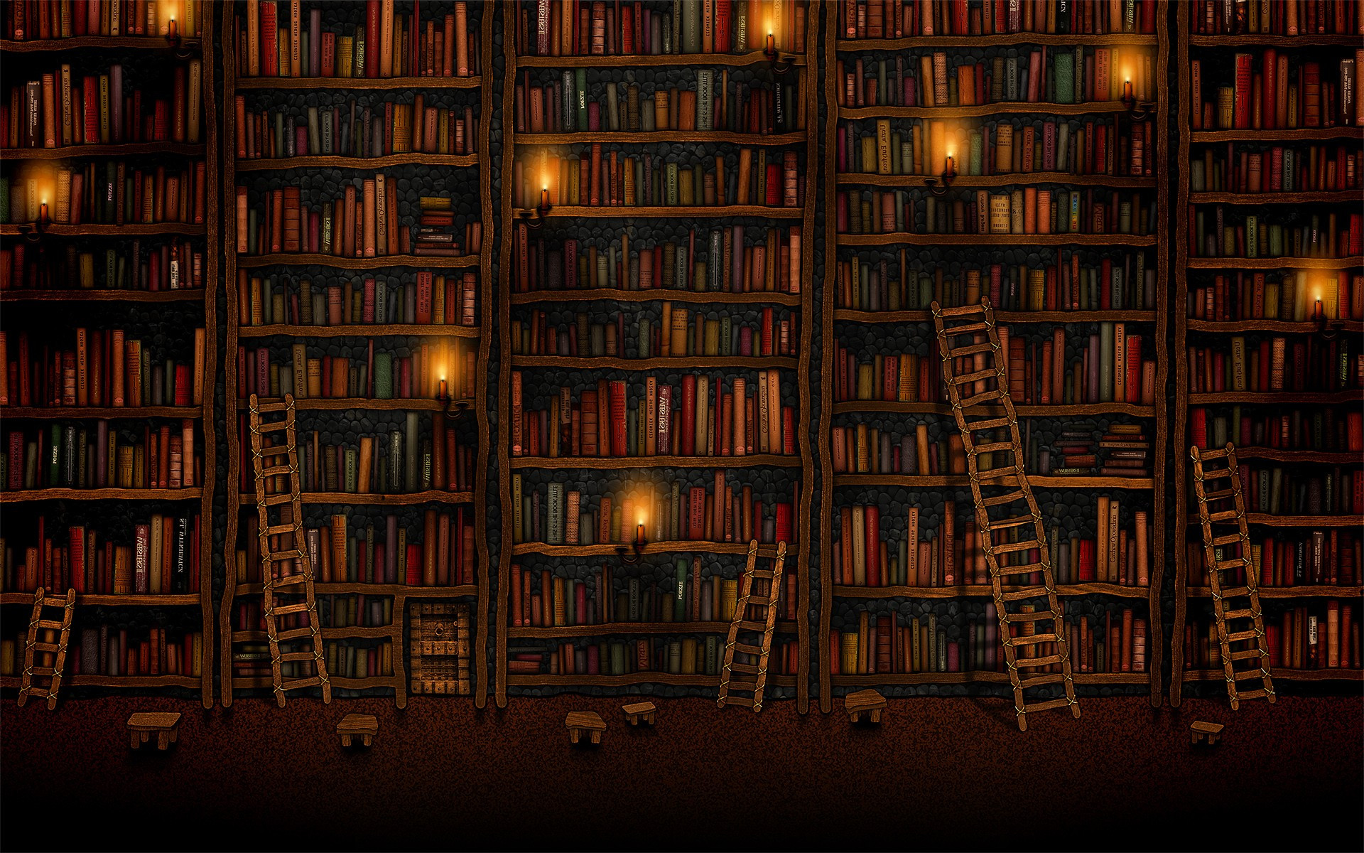 Tall bookshelves wallpaper   120261 1920x1200