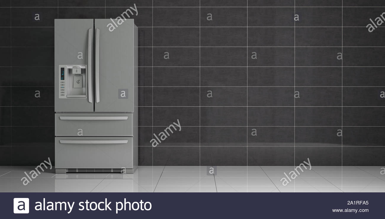Fridge in the kitchen Side by side stainless steel refrigerator 1300x740