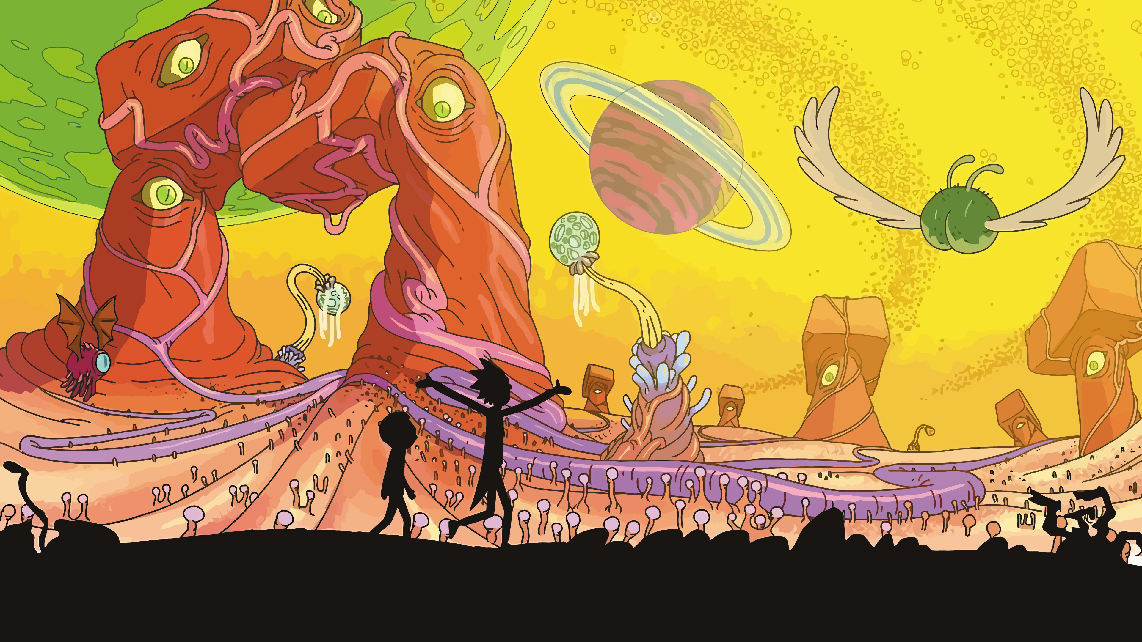Rick And Morty Wallpaper HD Artist 4K Wallpapers Images Photos 3840x2160
