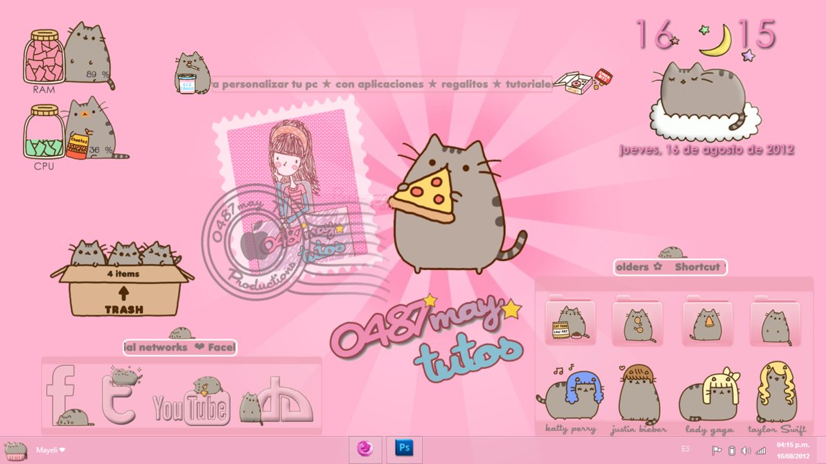 Pusheen The Cat Gangnam Style Unicorn 1192x670