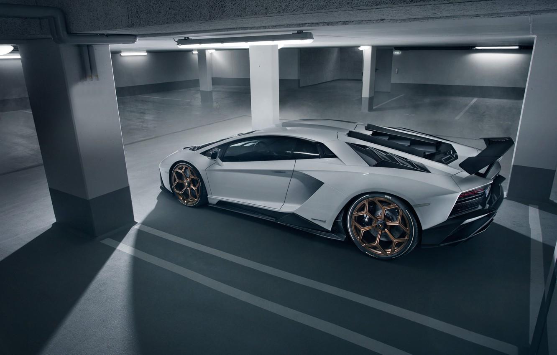 Wallpaper Lamborghini Parking supercar side view 2018 Novitec 1332x850