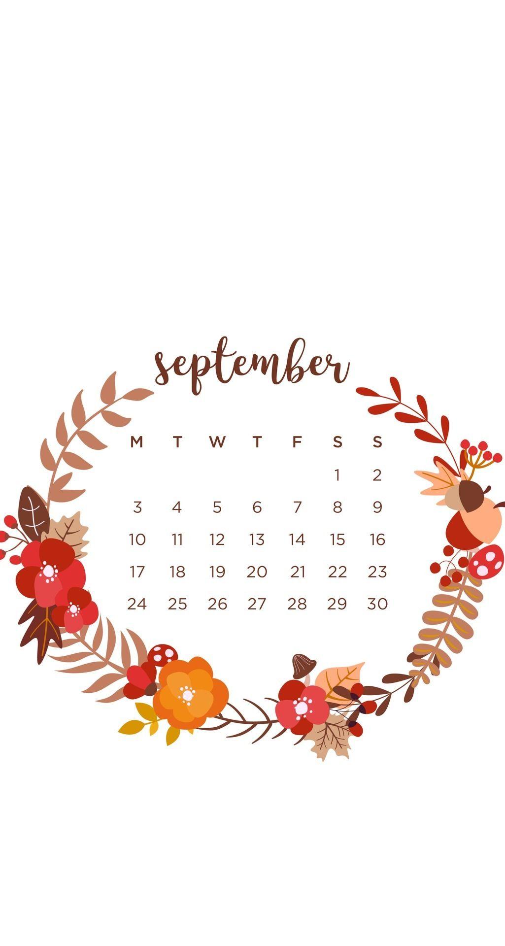 September 2018 Wallpaper calendar iPhone in 2019 September 1025x1920