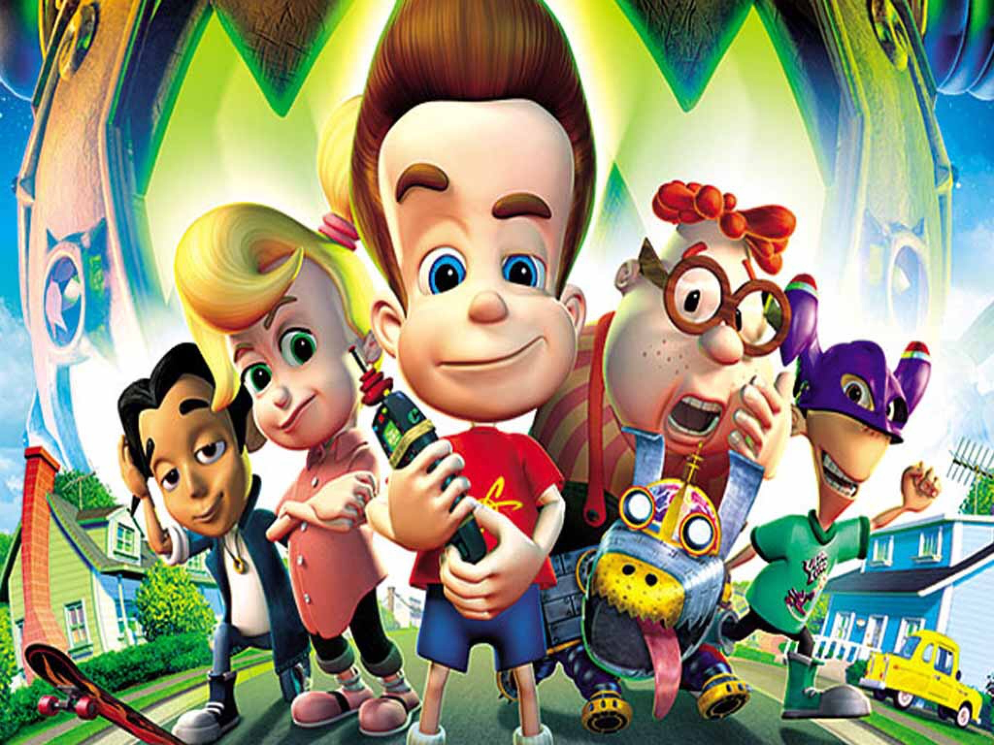 Jimmy neutron all characters wallpaper   Nickelodeon and Disney 2048x1536