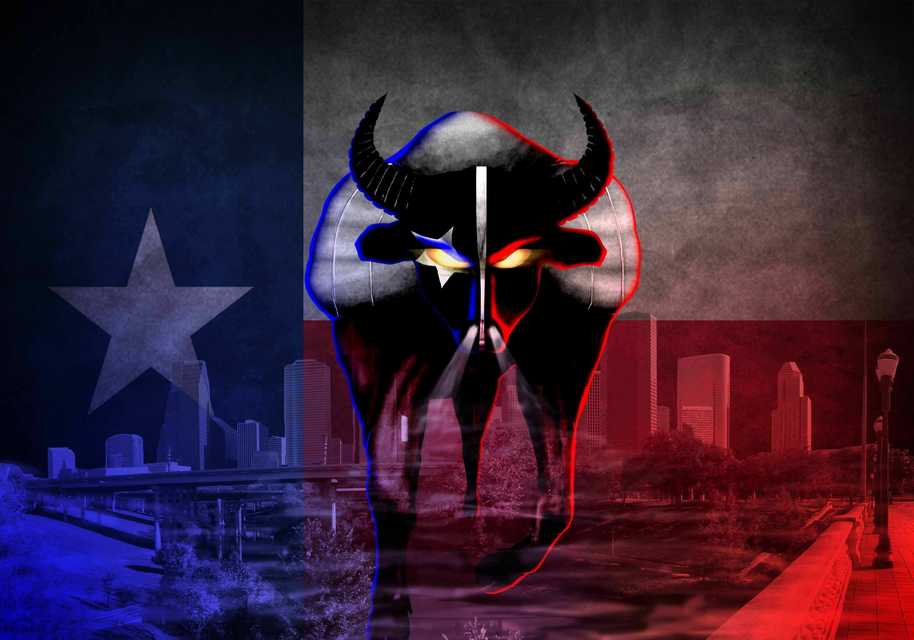 HOUSTON TEXANS nfl football demon dark wallpaper background 3000x2100