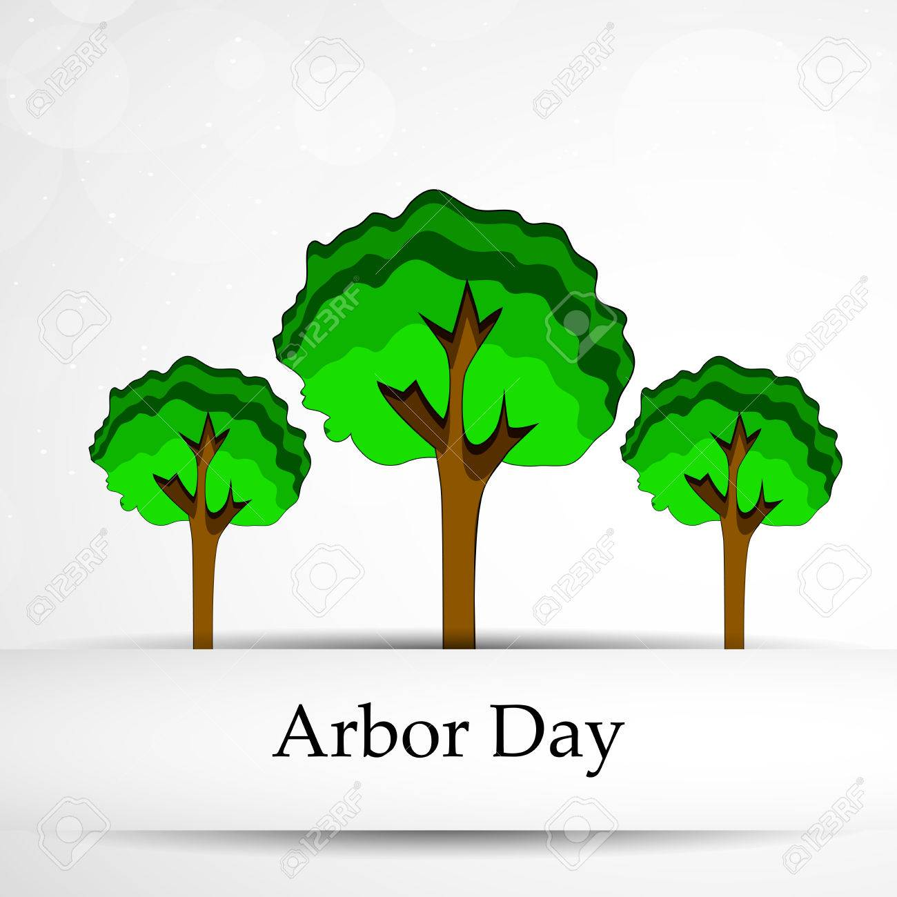 Illustration Of Background For Arbor Day Royalty Cliparts 1300x1300
