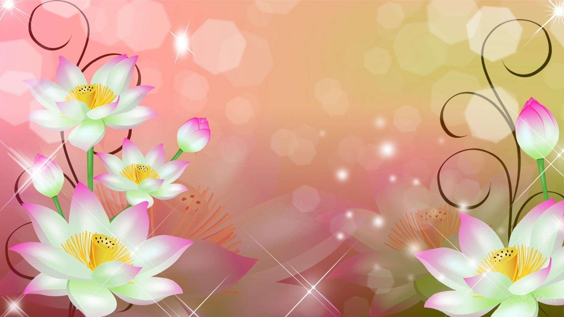 Flowers Abstract Backgrounds 1920x1080
