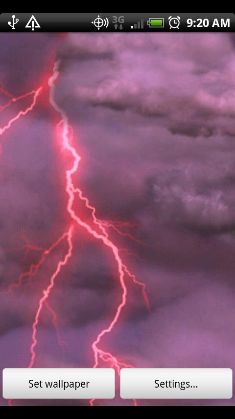 Thunderstorm Live Wallpaper 480x854