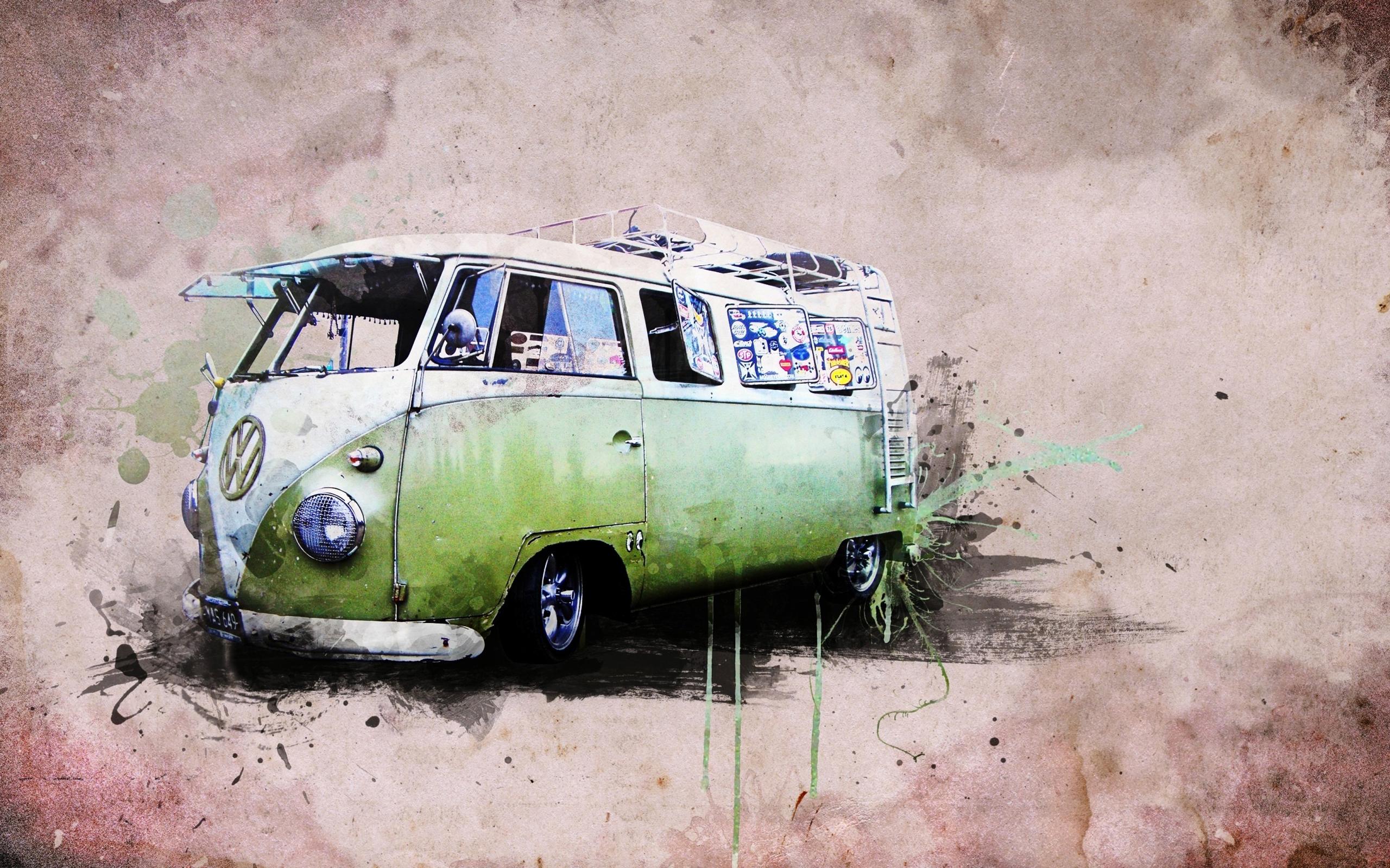 vw combi van hd desktop wallpapers volkswagen hippie bus 2560x1600