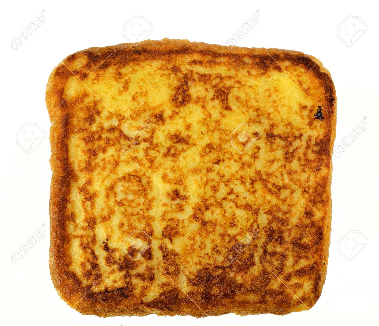 Slice Of French Toast On A White Background Stock Photo Picture 1300x1118