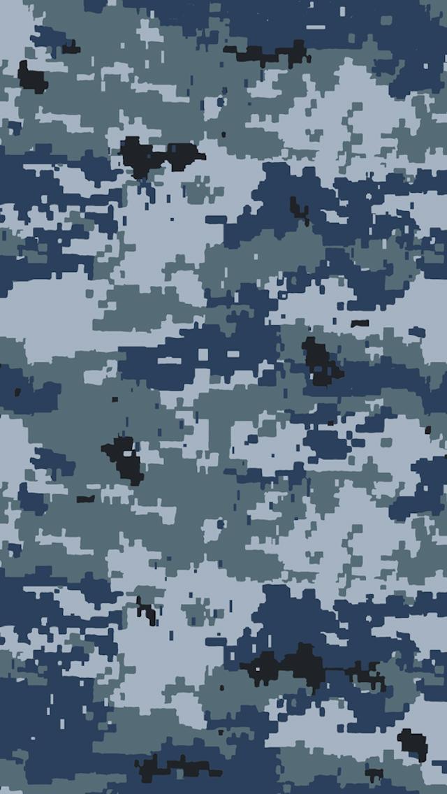 Navy Camo sample iPhone 5 Wallpaper 640x1136 640x1136