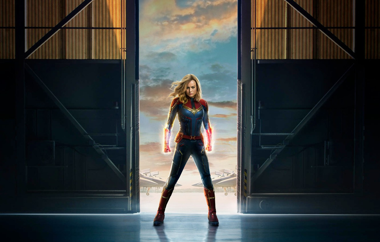Wallpaper Film Carol Danvers Captain Marvel Brie Larson 2019 1332x850