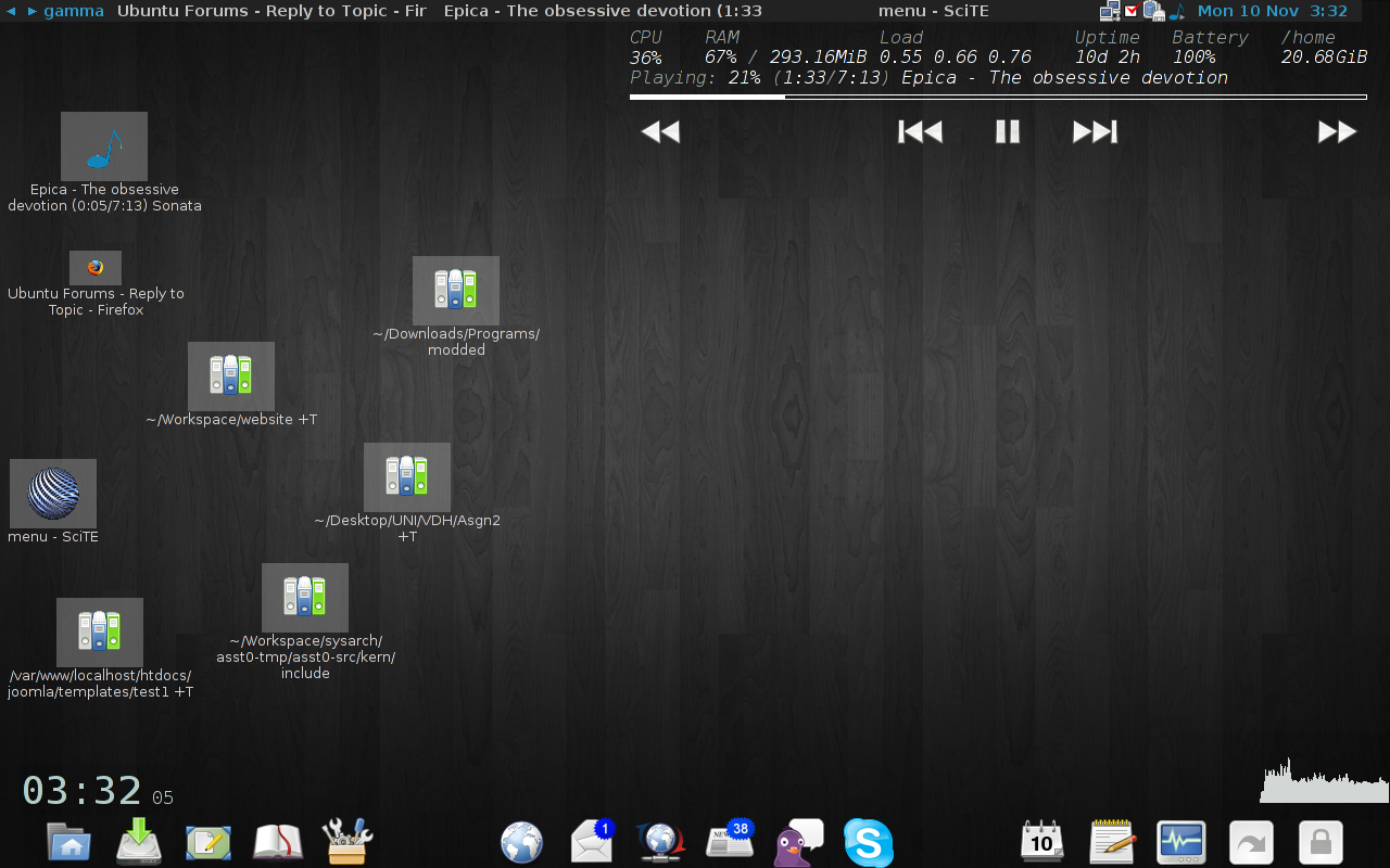 linuxers what random yet awesome things have you done with 1280x800