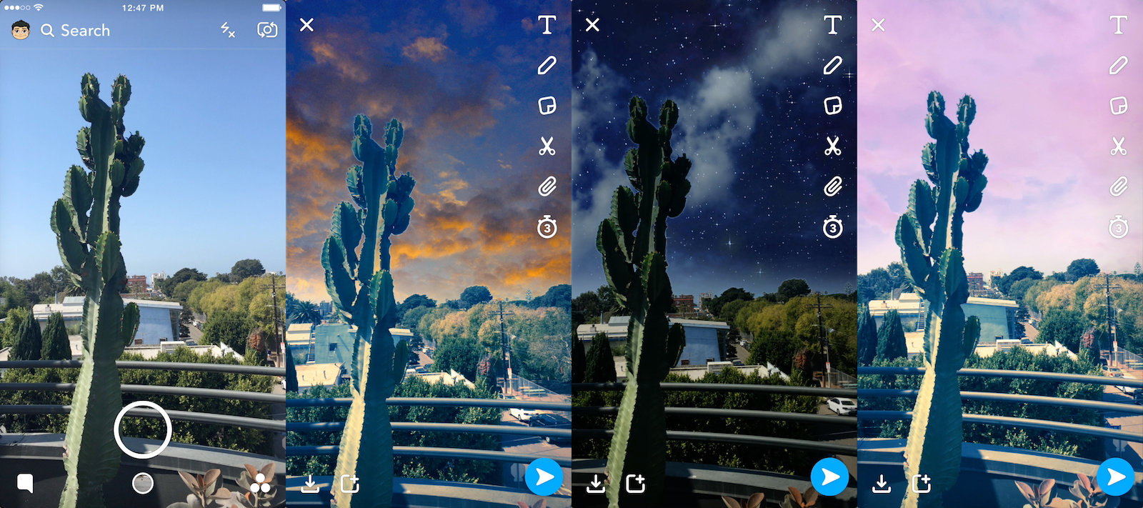 Snapchats new filters make your photo backgrounds look surreal 1600x711