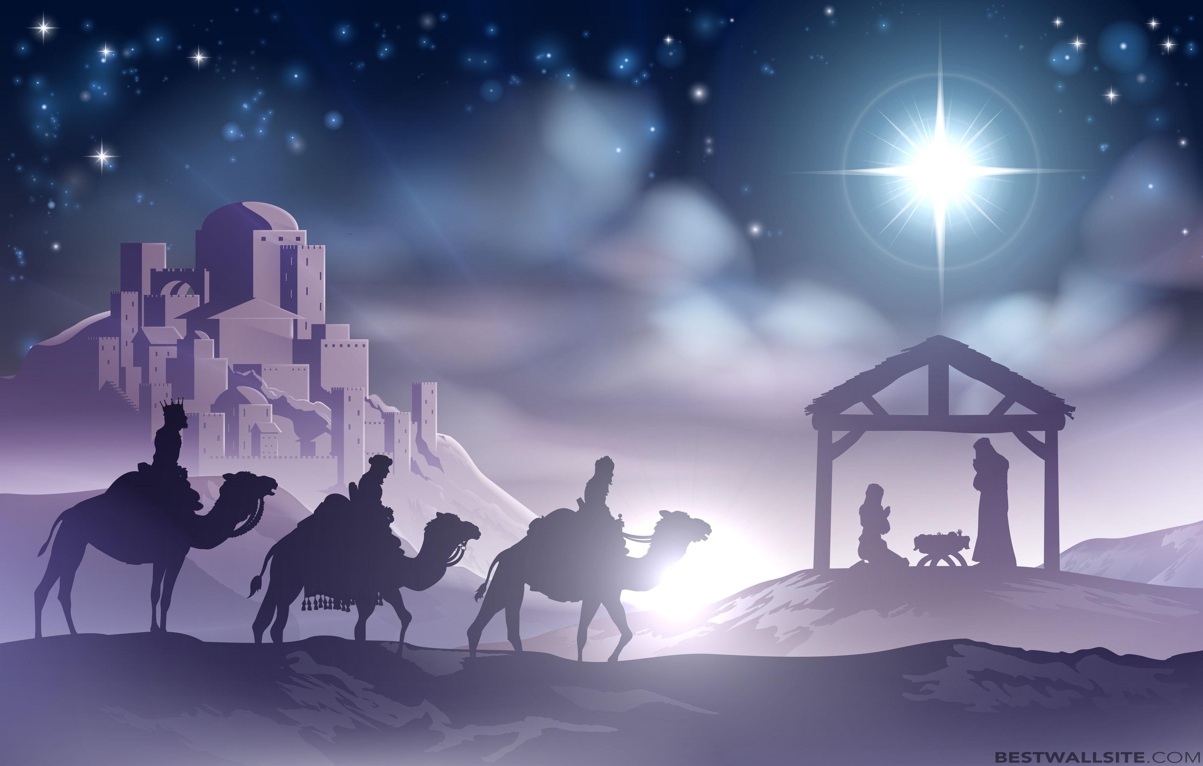 Christmas Nativity Scene Wallpaper Related Keywords 3920x2496