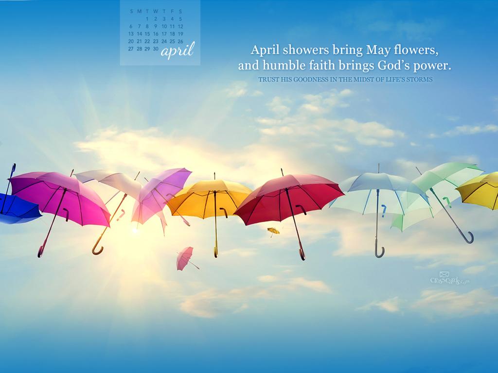 April 2014   Gods Power Desktop Calendar  Monthly Calendars 1024x768