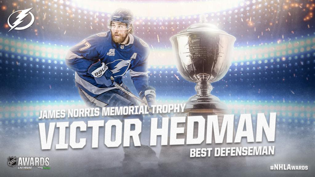 Hedman of Lightning wins Norris Trophy as best defenseman in NHL 1024x576