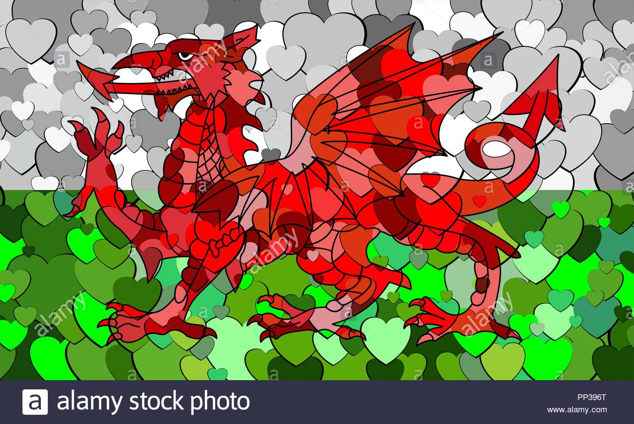 Welsh Dragon Wallpaper Stock Photos Welsh Dragon Wallpaper Stock 1300x870