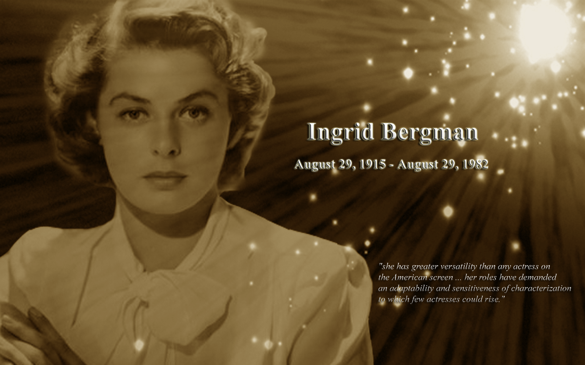Ingrid Bergman Desktop Wallpaper   FilmClassics FilmClassics 1920x1200