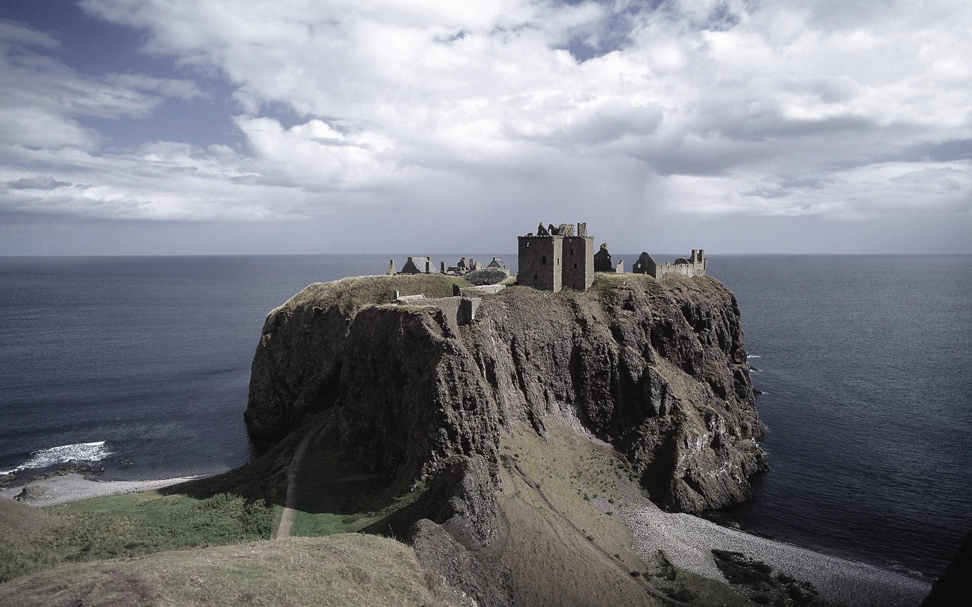 Stonehaven Background Insight Microsoft Desktop Castle Clear wallpaper 1920x1200