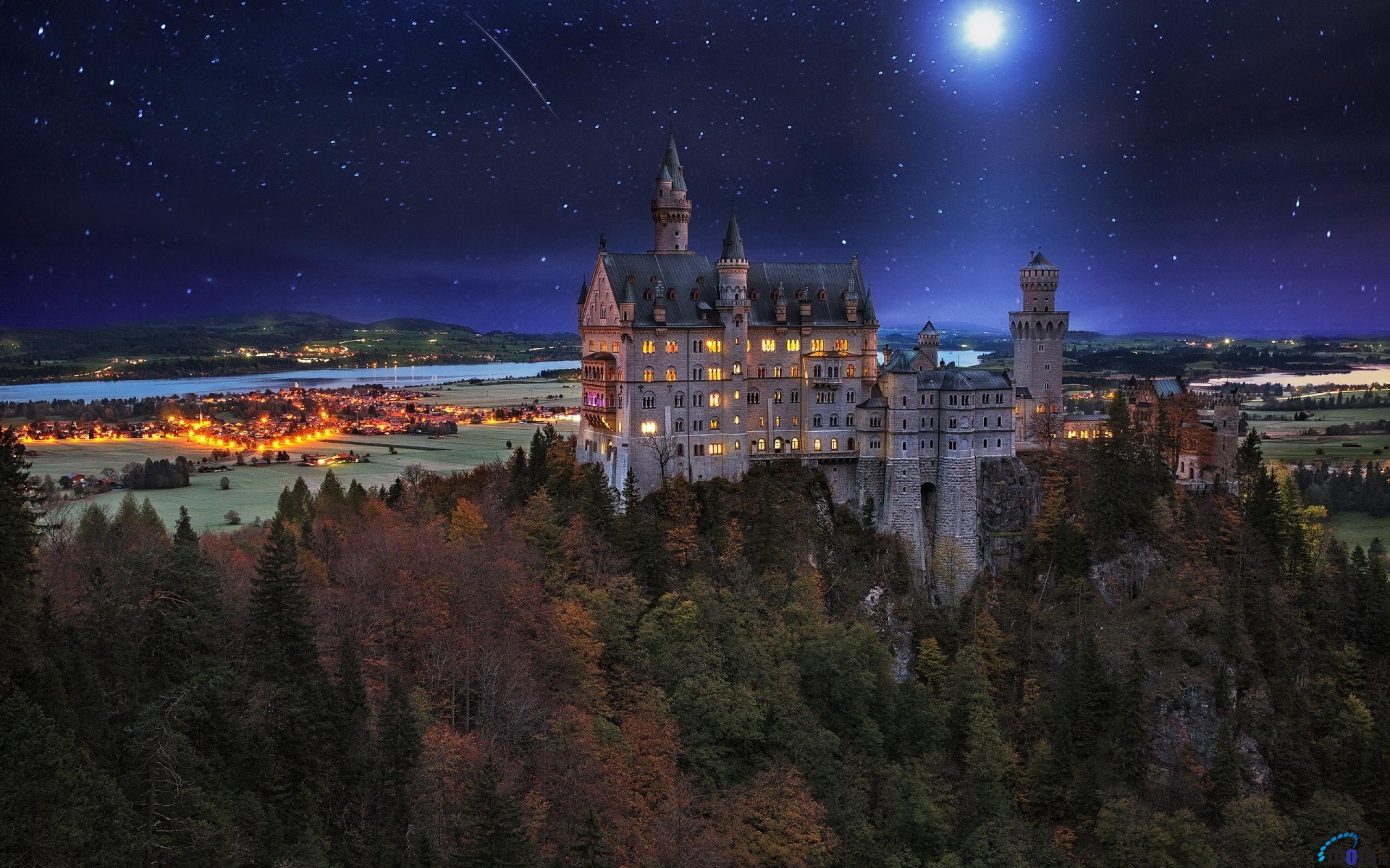 архитектура страны Замок Нойшванштайн Швангау Германия  № 2231548 бесплатно