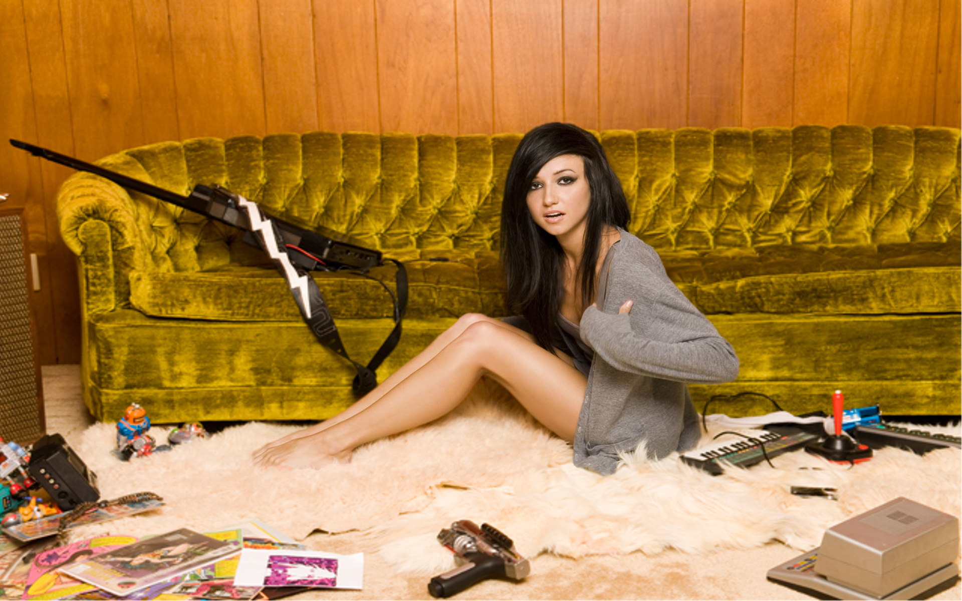 Brunettes Legs Wallpaper 1920x1200 Brunettes Legs Women Couch Long 1920x1200