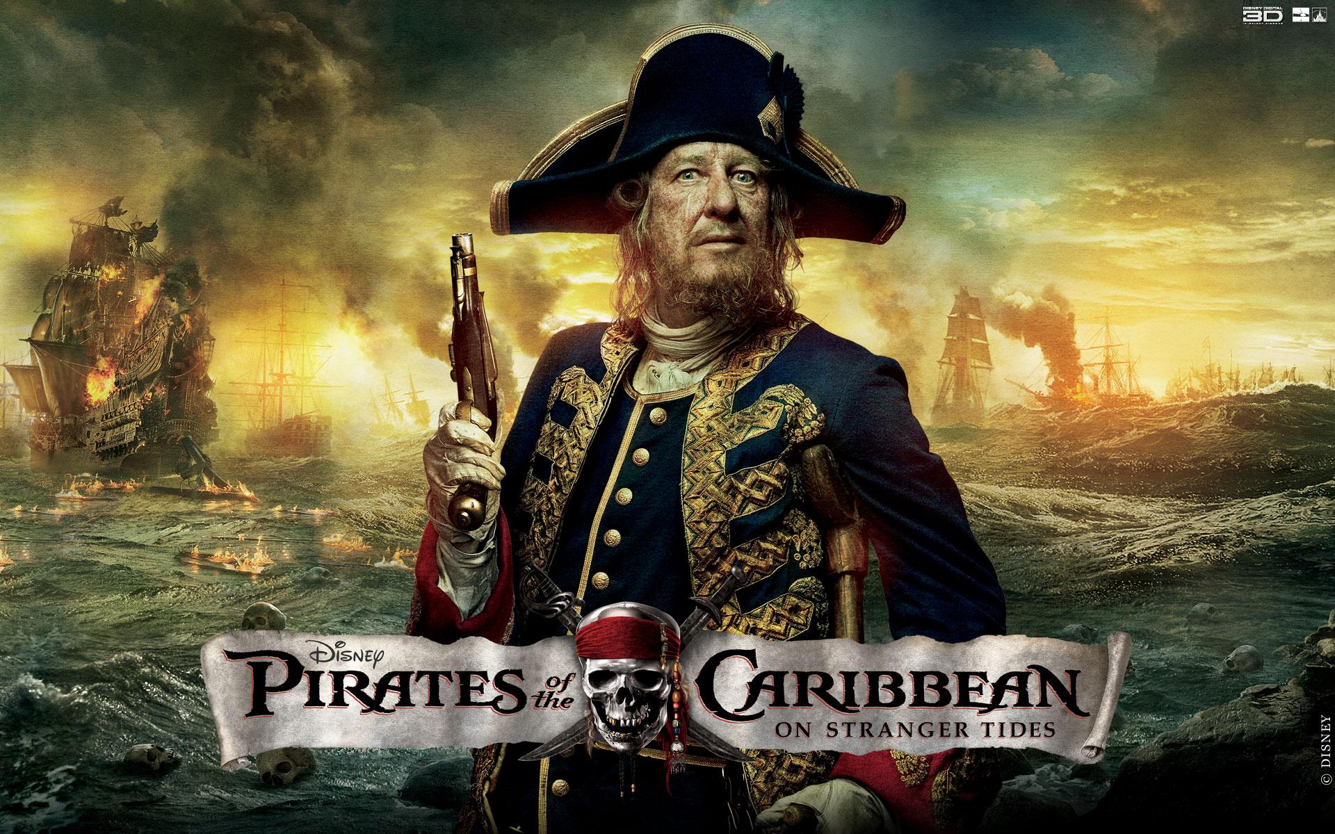Barbossa Caribbean Pirates Characters Widescreen Desktop Full HD 1920x1200