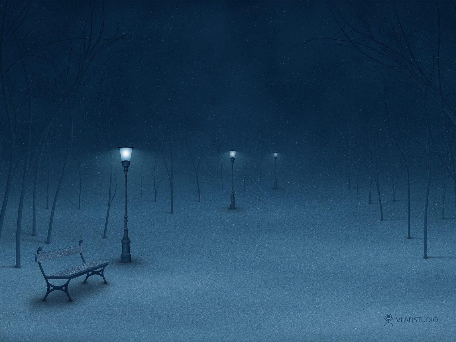 Night Winter Mountain Scenes HD Walls Find Wallpapers 1600x1200