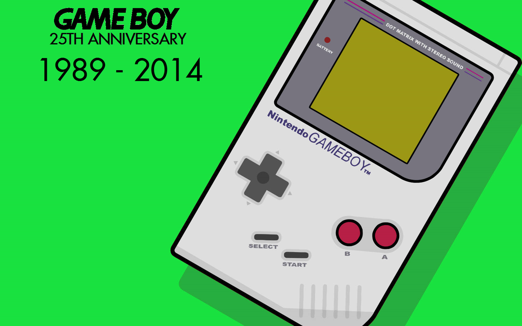 Game Boy 25th Anniversary Wallpaper 2 by TheWolfBunny 1024x640