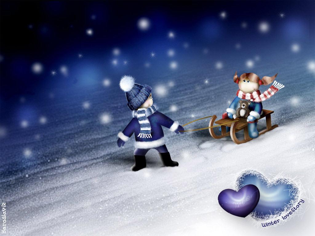 Winter Love Wallpapers HD Wallpapers 1024x768