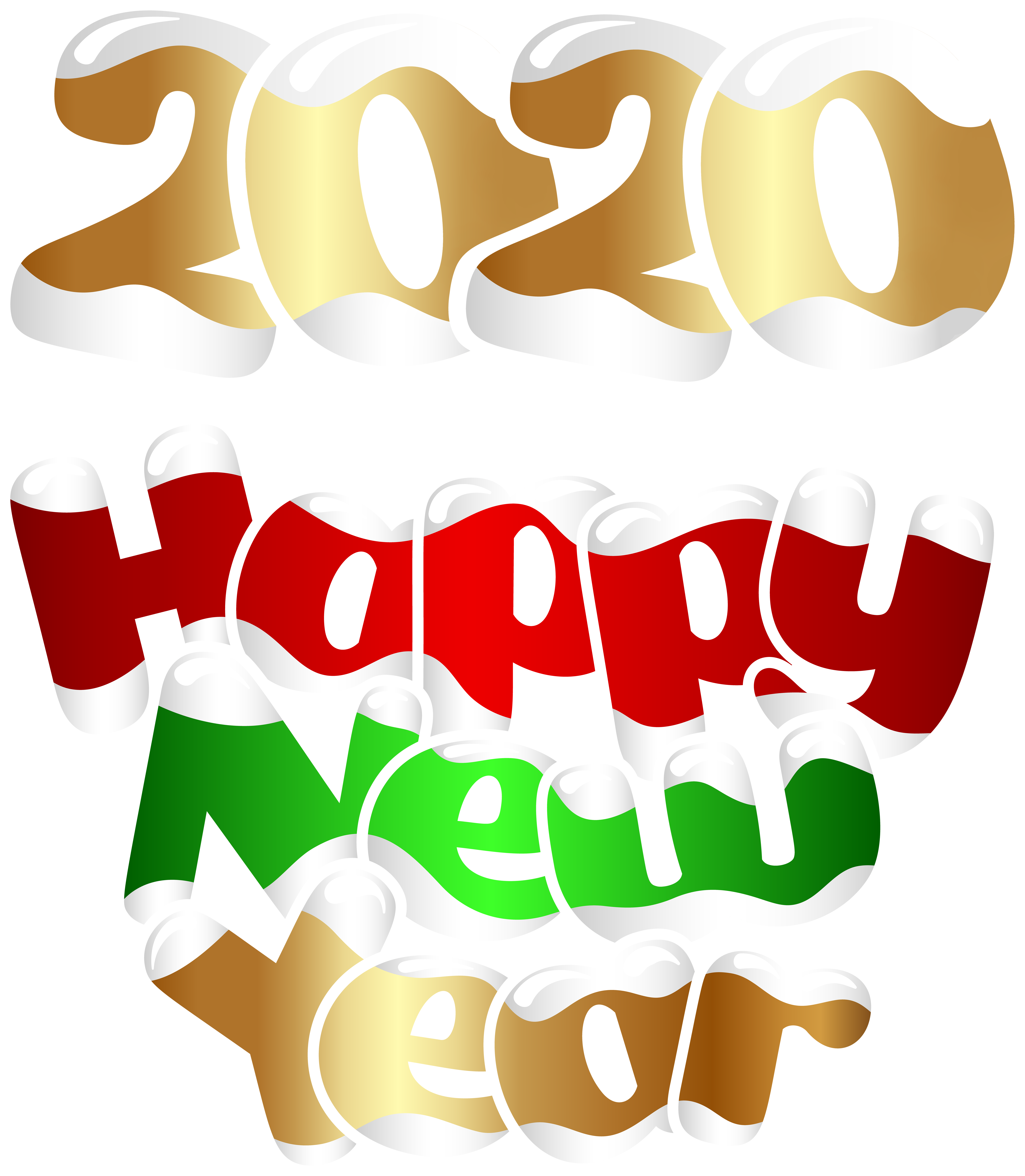 2020 Happy New Year PNG Clip Art Image Gallery Yopriceville 6973x8000