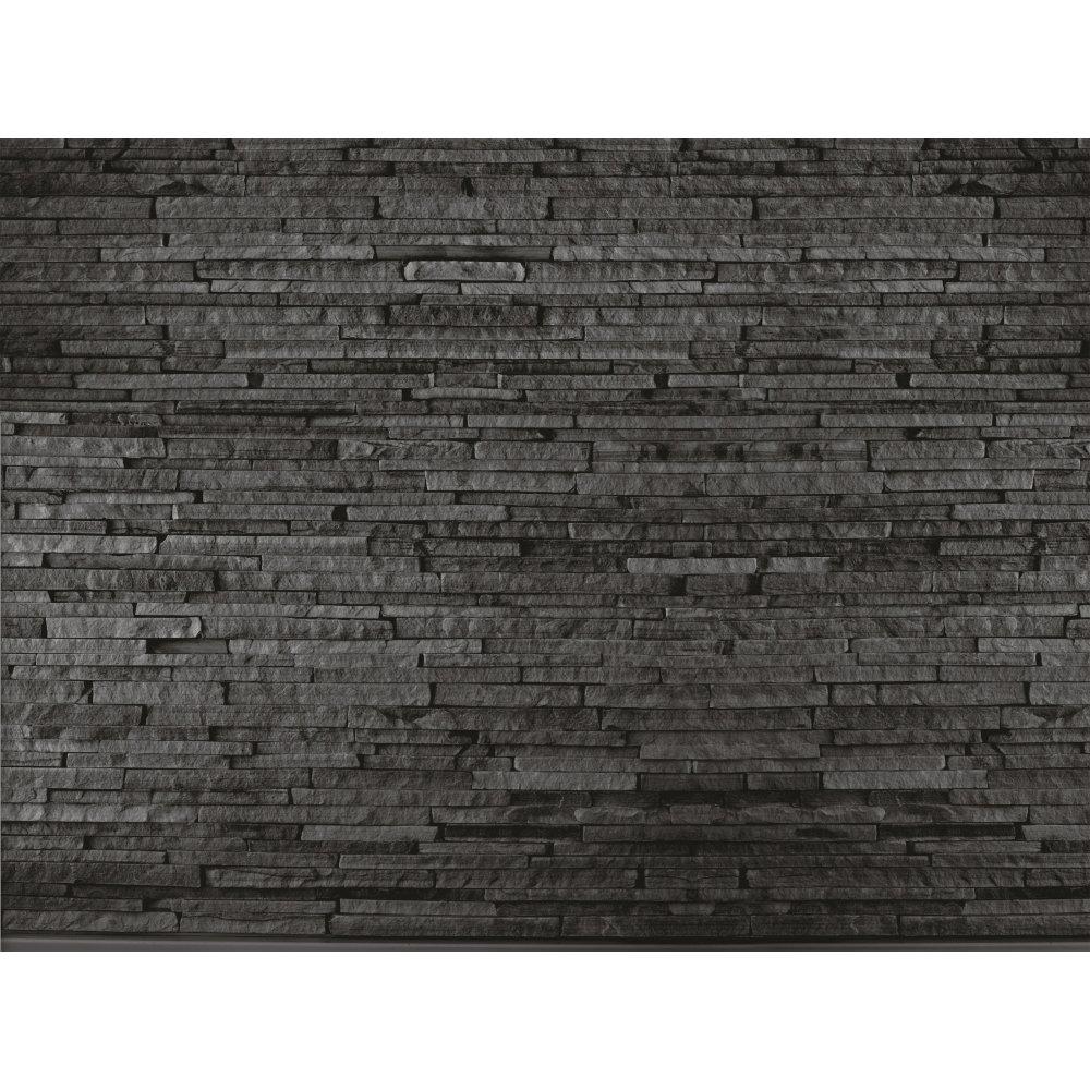 Wood looking wallpaper for wall wallpapersafari - Slate Brick Effect Wall Tiles Bathroom Design Ideas