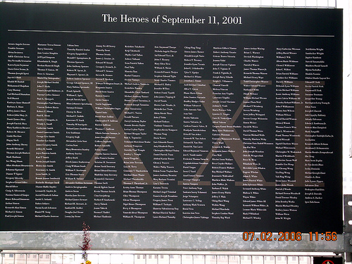 11 Memorial Wall Related Keywords Suggestions   9 11 Memorial Wall 500x375
