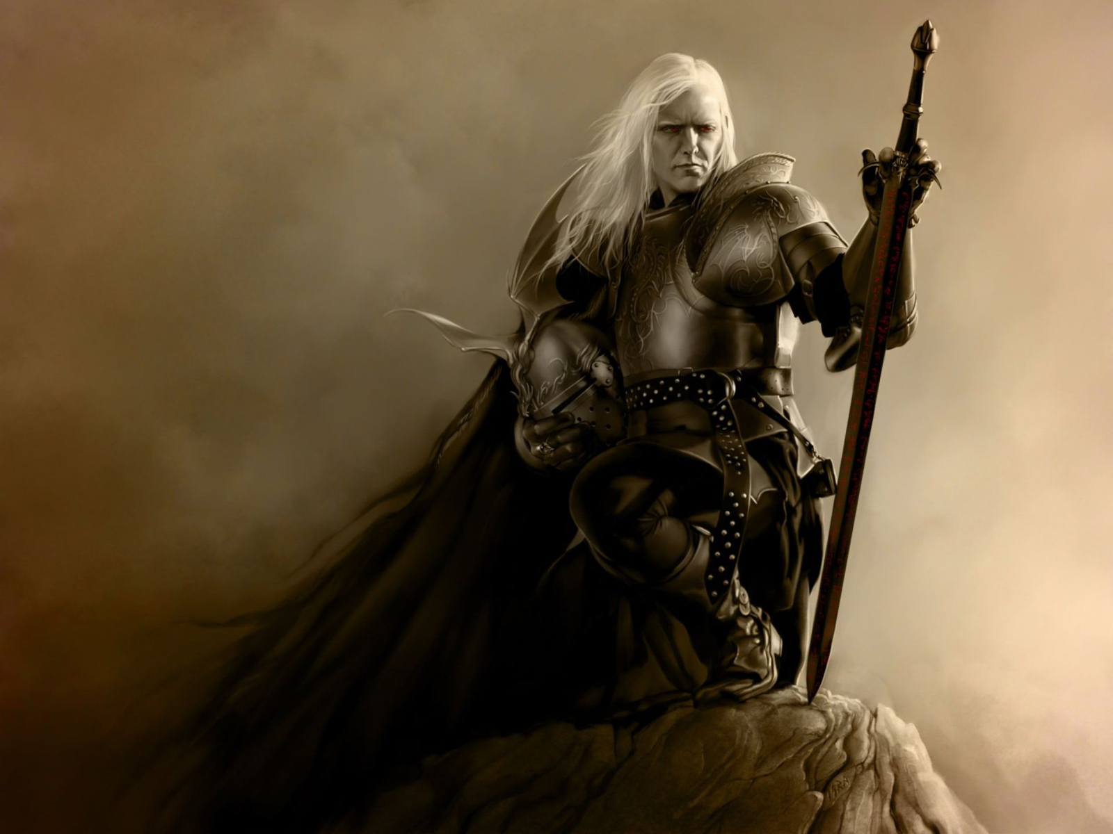 Dark Elf Warrior 1600x1200