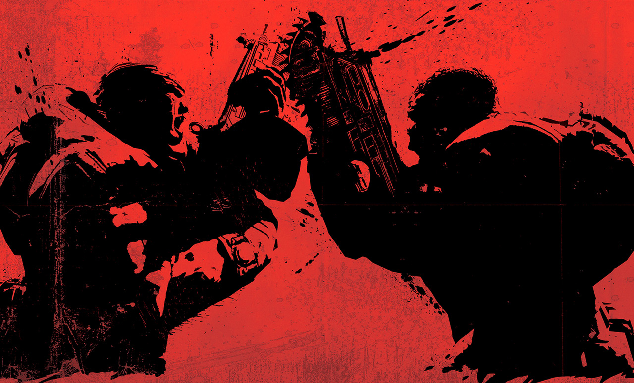 gears of war red black wallpaper background epic games microsoft xbox ...