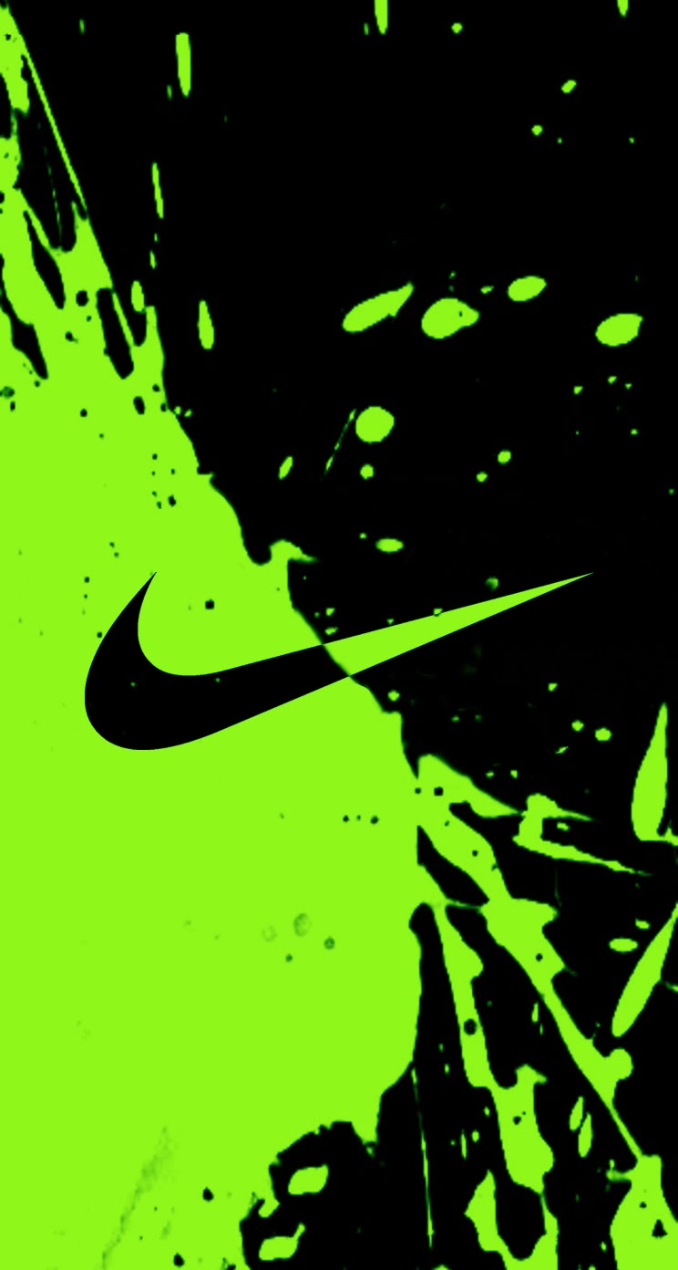 Lime Green Nike Logo Wallpaper Green nike logo   viewing 744x1392