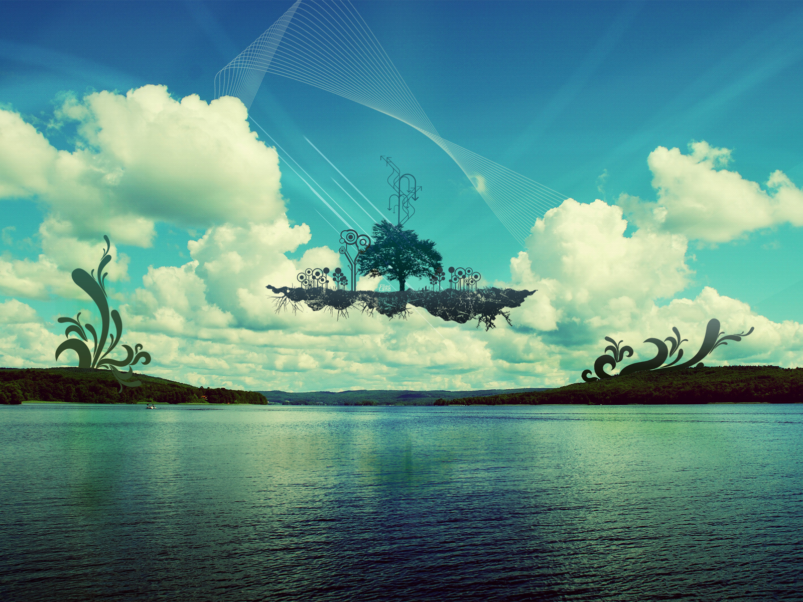 1600x1200 Floating island desktop PC and Mac wallpaper 1600x1200